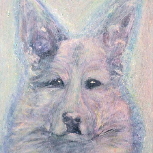 Painting of Jake the German Shepherd