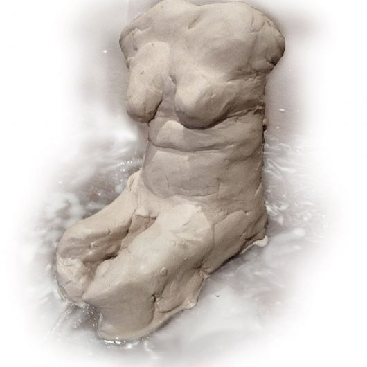 nude in clay